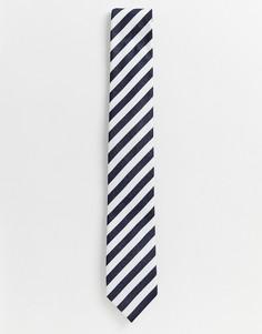 Свадебный галстук в полоску Selected Homme - Темно-синий