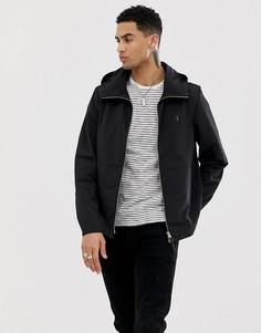 Черная легкая куртка с капюшоном AllSaints - Черный