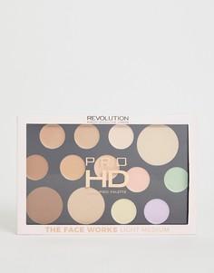 Палитра для макияжа Revolution Pro HD - The Works Light/Medium - Мульти
