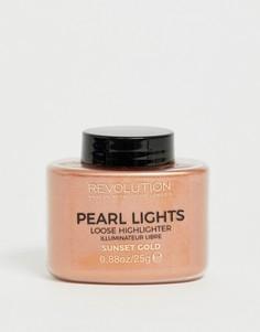 Рассыпчатый хайлайтер Revolution Pearl Lights - Sunset Gold - Золотой
