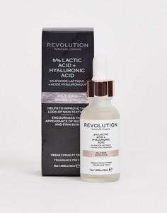 Мягкое отшелушивающее средство для кожи Revolution Skincare - 5% молочная кислота + гиалуроновая кислота - Бесцветный