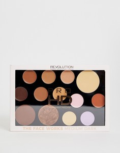 Набор для макияжа Revolution Pro HD Palette - The Works Medium/Dark - Мульти