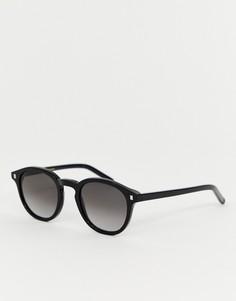 Черные круглые солнцезащитные очки Monokel Eyewear Nelson - Черный