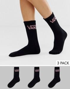 Набор из 3 пар черных носков Vans - Черный