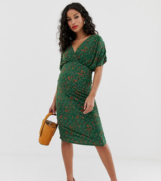Трикотажное платье миди Mamalicious - Мульти Mama.Licious