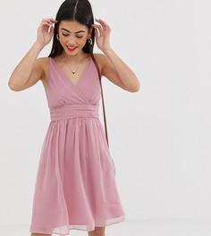 Платье со сборками Vero Moda Petite - Розовый