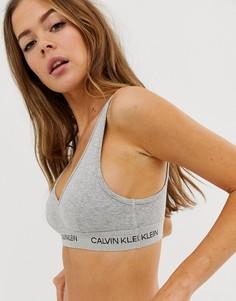 Серый бралетт Calvin Klein Statement 1981 - Серый