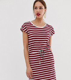 Трикотажное платье в полоску с завязкой Vero Moda Tall - Мульти