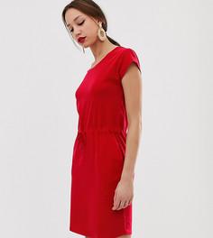 Трикотажное платье с поясом Vero Moda Tall - Красный
