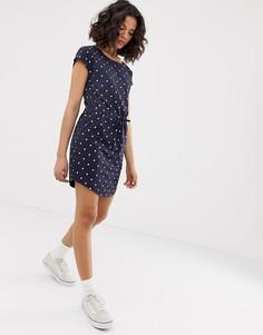 Платье в горошек с поясом Only - Мульти