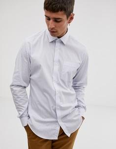 Белая приталенная рубашка в полоску с длинными рукавами Esprit - Белый