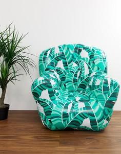 Надувное кресло с пальмовым принтом Sunnylife - Зеленый