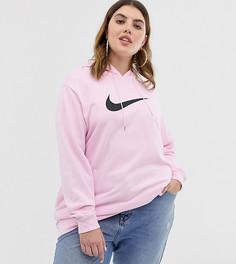 Розовый худи с логотипом Nike plus - Розовый