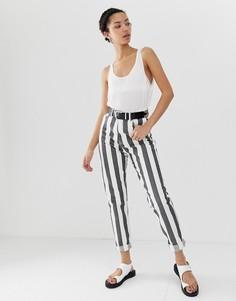 Джинсы в винтажном стиле с полосками и завышенной талией Dr Denim Nora - Мульти
