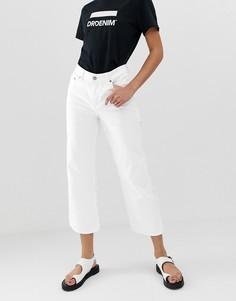 Широкие укороченные джинсы с классической талией Dr Denim Cadell - Белый