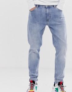 Синие узкие джинсы Weekday - Синий