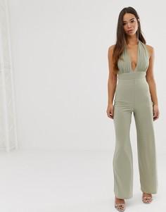 Широкие брюки Love - Зеленый