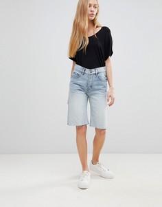 Джинсовые шорты прямого кроя Cheap Monday - Синий