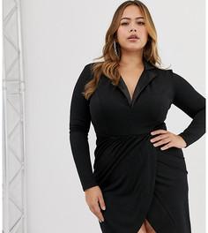 Платье-смокинг Club L Plus - Черный