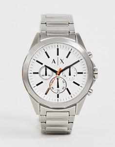 Наручные часы с хронографом Armani Exchange AX2624 Drexler 44 мм - Серебряный