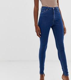 Выбеленные синие джинсы скинни с завышенной талией ASOS DESIGN Tall Ridley - Синий
