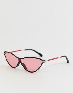 Солнцезащитные очки кошачий глаз Calvin Klein Jeans CKJ19702S - Черный