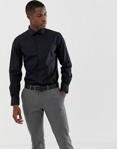 Черная зауженная рубашка с длинными рукавами Celio - Черный