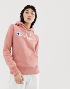 Худи бойфренда с вышитым логотипом Champion - Розовый