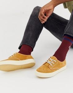 Светло-коричневые замшевые кроссовки Fred Perry Ealing - Рыжий