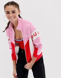 Розовая блестящая спортивная куртка Puma XTG 94 - Розовый