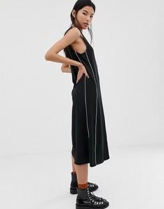 Платье на пуговицах с отделкой Dr Denim - Черный