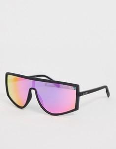 Розовые солнцезащитные очки с плоским верхом Quay Australia - Розовый