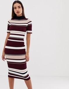 Облегающее платье миди в полоску Forever Unique - Мульти