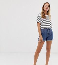 Синие шорты в винтажном стиле с завышенной талией Vero Moda Petite - Синий