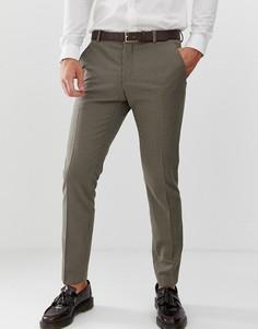 Узкие брюки с узором гусиная лапка Selected Homme - Бежевый