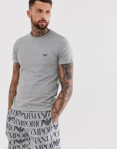 Серая футболка для дома с логотипом Emporio Armani - Серый