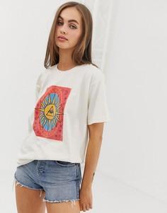 Свободная футболка с принтом Daisy Street Тarot - Бежевый