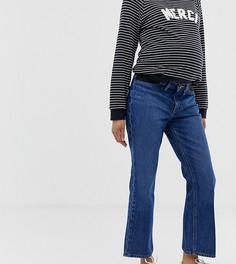 Укороченные расклешенные джинсы в винтажном стиле со вставками по бокам ASOS DESIGN Maternity Egerton - Синий