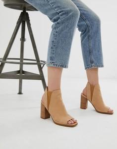 Бежевые босоножки на каблуке с открытым носком ALDO Selalla - Бежевый