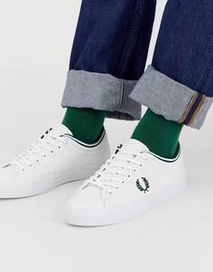 Белые парусиновые кроссовки Fred Perry Kendrick - Белый