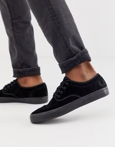 Черные замшевые кроссовки Fred Perry Merton - Черный