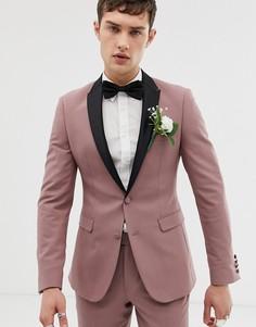 Розовато-лиловый супероблегающий пиджак-смокинг ASOS DESIGN wedding - Фиолетовый