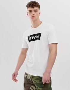 Белая футболка с логотипом и принтом на спине Levis Line8 - Белый