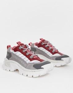 6daf46e8c Красные кроссовки на массивной подошве CAT Intruder - Красный. Cat Footwear
