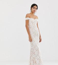 Белое кружевное платье макси Jarlo - Белый
