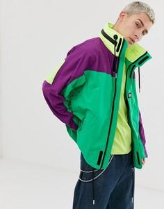 Куртка в стиле колор блок со скрытым капюшоном Diesel J-Futoshi - Мульти