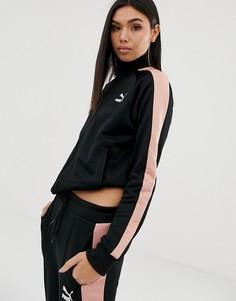 Черно-розовая спортивная куртка Puma classics - Черный
