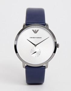 Часы 42 мм с узким кожаным ремешком Emporio Armani AR11214 Modern - Синий