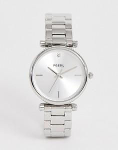 Маленькие наручные часы Fossil ES4440 - 35 мм - Серебряный