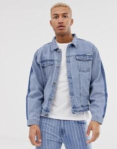 Джинсовая куртка с выцветшим эффектом Liquor N Poker - Синий